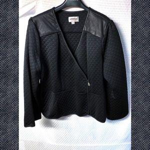 Seth Aaron Wrap Jacket With Peplum, 26W NEW Black